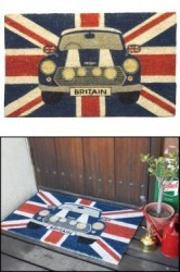 Door Mat Union Jack/Mini Cooper 450 x 750mm